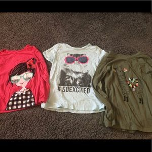 Other - 3 girls size 7 tops